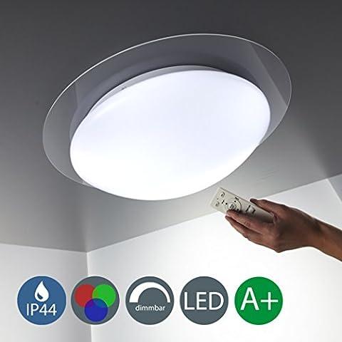 Plafonnier LED Lampe LED à intensité variable couleur changeante 16couleurs au choix Télécommande Lampe Salon Lampe Plafonnier LED Spot LED plafonnier LED rond blanc