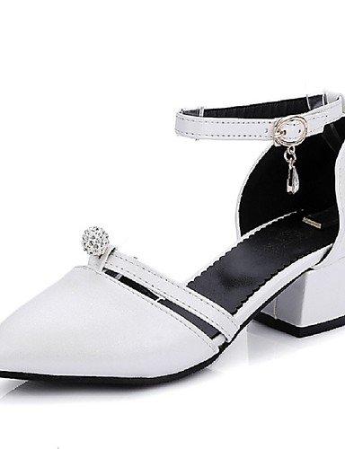 WSS 2016 Chaussures Femme-Habillé-Noir / Rose / Rouge / Blanc-Gros Talon-Talons / Bout Pointu-Talons-Similicuir pink-us8.5 / eu39 / uk6.5 / cn40