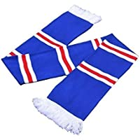afda8ccbe52 Rangers FC colours Blue White & Red Stripe Retro Football Bar Scarf - Top  Quality