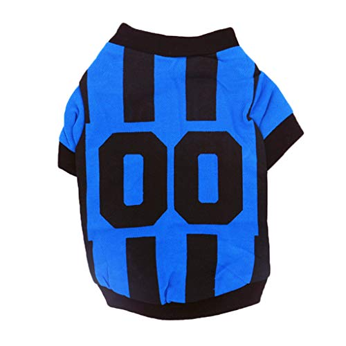 KakiyiSport-Art-Buchstabe gedrucktes Haustier-Weste-Sommer-beiläufige Kleintiere Shirts Kleidung
