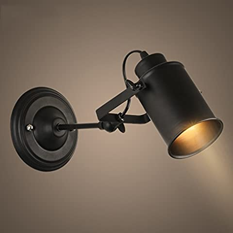 Industrial Windmill Lamp Retro LED Track Light Decorated Restaurant Aisle Garment Shop Industrial Downlights Black ( Color : Black