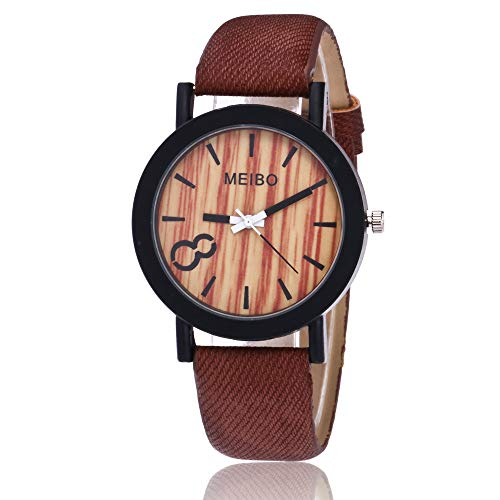 Uhren Herrenuhr Armbanduhr Sportuhr Modellierung Holz Quarz Uhr Casual Holz Uhren Damen Armbanduhr Sportuhr Farbe Leder Uhr Klassisch Uhr Mode Armbanduhr Edelstahl Uhr Analoge Quarz-Armbanduhr,ABsoar