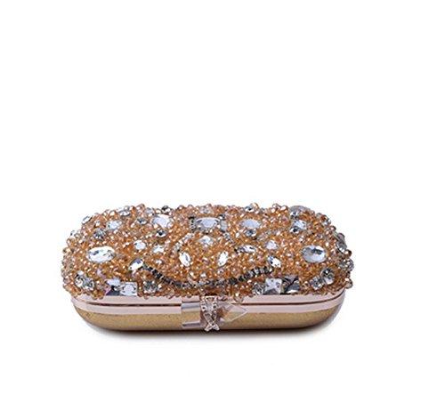 Gold Clutch Frau Kristallhandtaschen Kleid Handtaschen Abend Abendessen Beutel F80nOPFr