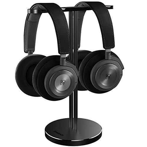 JOKItech Alluminio Doppia Cuffia Stand - Gancio del Metallo Adatto a Tutti i DJ Dimensione di Gioco Grandi Cuffie Auricolari...