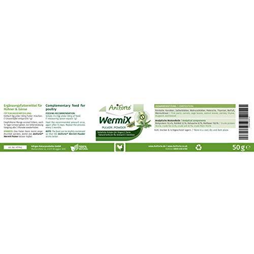 AniForte Wurm-Formel 50 g- Naturprodukt für Hühner, Gänse und Grossvögel - 4