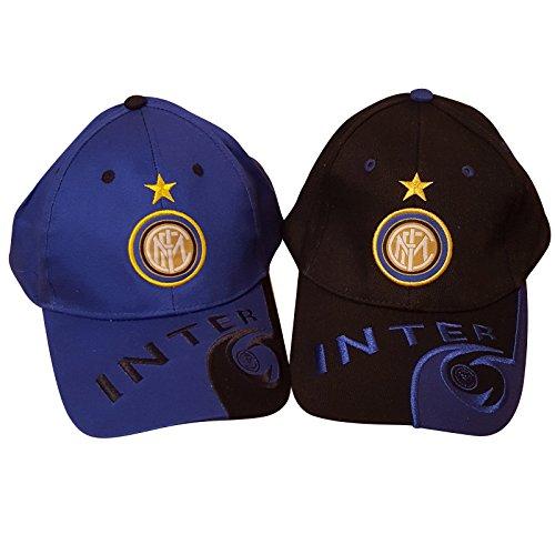 Club de fútbol Inter Milan gorra de béisbol unisex, sombrero (2 artículos, azul y negro)