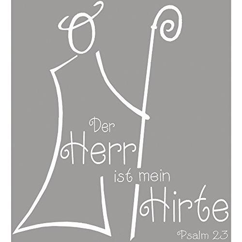 Rayher Hobby 2801100 Butterer Holzstempel Hirte 7 x 7 cm, Ahornholz, Naturkautschuk, Stempel kirchliches Motiv mit Schrift, Hochzeit / Kommunion / Konfirmation