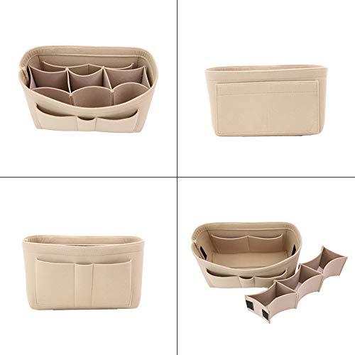 Einfügen Tasche Organizer Geldbörse Organizer, Filz Tasche große Kapazität multifunktionale Make-up Tasche Aufbewahrungstasche, Handtasche Tasche in Tasche -