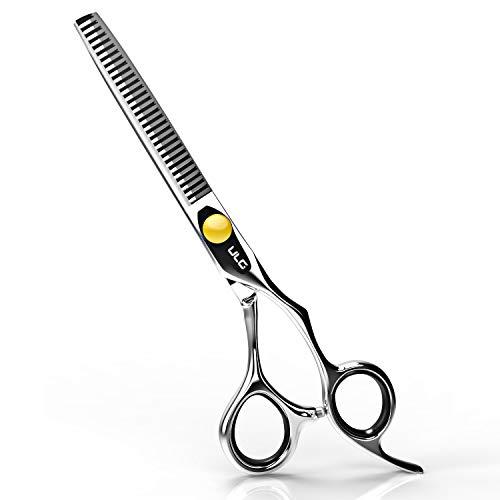 Taglio dei capelli forbici professionali ulg sfoltire parrucchieri forbici kit per barbiere salon con bene regolabile