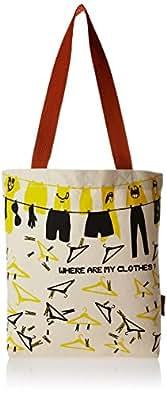 Kanvas Katha Women's Tote Bag (Ecru) (KKNB/AMZ/SS16/001E)