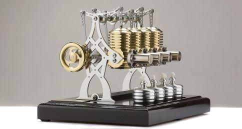Böhm Stirling Technik Heißluft/Stirling Modell Wissenschaftliches Spielzeug HB28-B, Fertigmodell, Schwarz