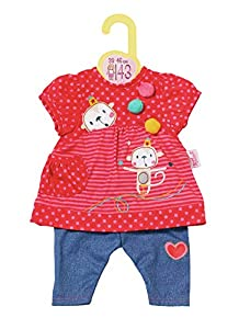 Zapf Creation 870365Dolly Moda Colgador Chen con pantalón 38-46cm, Color Rojo