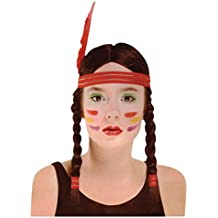 NEW INDIAN WIG HEAD DRESS FANCY DRESS POCAHONTAS (peluca)