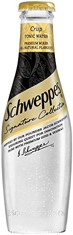 Schweppes Signature Collection Crisp Tonic Water Glass Bottle 200ml - Pack of (2)