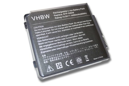 AKKU 14.8V 4400mAh für AOPEN BAREBOOK ersetzt BTP-52EW / BTP-89BM / BTP-90BM / 90.NBI61.001 / 90.NBI61.011 / 40008236 / 400011354 / 805N00005