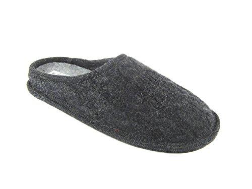 Pantofole invernali color antralcite antralcite