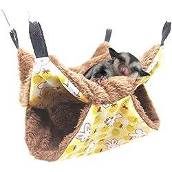 Oncpcare - Hamaca para Mascotas, Hamaca para azúcar con litera, Accesorios para Jaula de cobaya, Hamaca cálida para Animales pequeños, Loro, azúcar, hurón, Ardilla, hámster, Rata, Jugar al Dormir