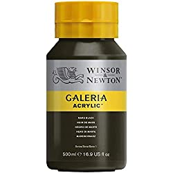 Winsor & Newton Galeria - Tubo acrílico, negro de marte, 500 ml