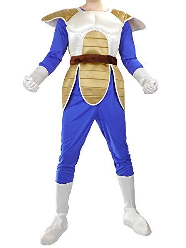 CoolChange Dragon Ball Vegeta Cosplay Kostüm ohne Perücke, Größe: M, Kampfanzug Bejita (Dragon Ball Vegeta Kostüm)