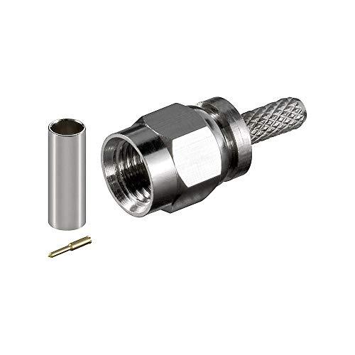 Goobay 12953 SMA-Crimpstecker - mit Goldkontakte für RG 58/U Kabel