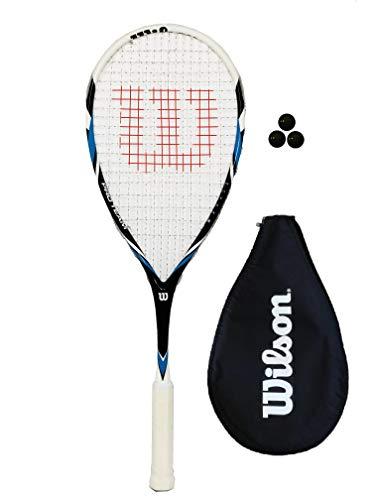 Wilson Pro Team Squashschläger (Verschiedene Optionen) (1 x Schläger + 3 Squashbälle)
