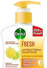غسول اليدين ديتول المنعش للحماية الفعالة من اكثر من 100 مرض تسببه الجراثيم وللنظافة الشخصية، برائحة الليمون وز