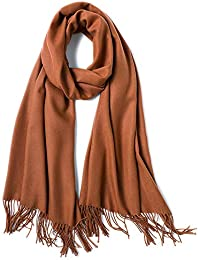 Combinación de tradición y Moda Pashmina Color Puro Bufandas Envuelve Borla mantón Largo Estola - Suspensión