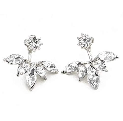 Bobopai 1 Pair Fashion Earrings Women Silver Daisy Flower Rhinestone Charm Ear Stud Earring Elegant Lady Jewelry Gift (A-5) -
