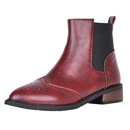 Europäische und amerikanische Chelsea-Stiefel Retro England spitzen Gummiband gesetzt Fuß kurze Stiefel Größe mehrjährige Stil Damenstiefel -