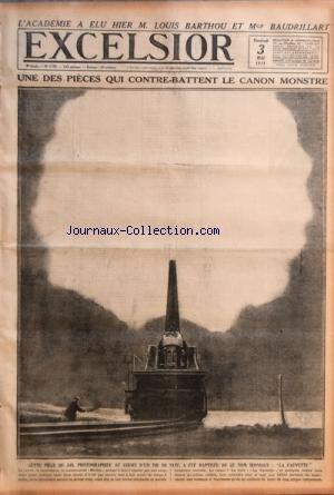 EXCELSIOR [No 2726] du 03/05/1918