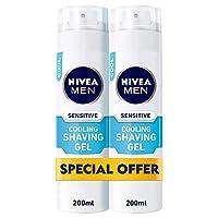 NIVEA, MEN, Shaving Foam, Sensitive, 2 x 200ml