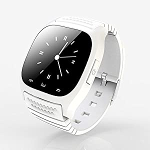 JINM Wearable Bluetooth Smart Watch M26 Smart Health Pedometer Sleep Monitor Alert Wrist Watch Phone Uwatch with SIM Card Camera Slot for Android [Full Functions] IOS[Partial functions]
