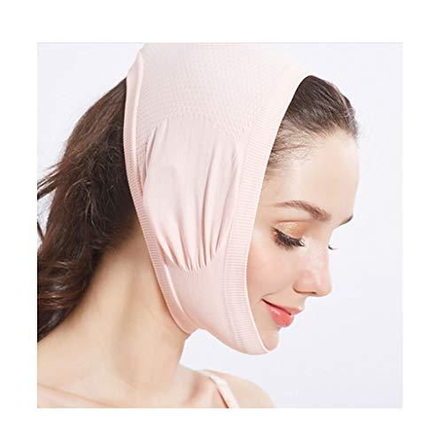CY Dünne Gesichtsmaske, Keine Spurenkompression Elastischer Verband/Plastische Gesichtschirurgie Gesichtsmaske Gesichtshaube, Erstellen Sie Ein Kleines V-Gesicht (Color : Pink)