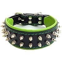 [Gesponsert]Bestia Frenchie Halsband mit Schraubspitzen. 100% Leder. Einzigartiges Design. Mops. Bulldog. Terrier. Schäferhund. Labrador. 5 cm breit. Weich gepolstert. Handgefertigt in Europa!
