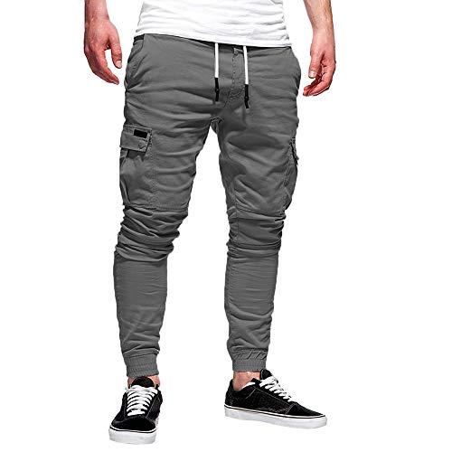 MA87 Mode Männer Sport Reine Farbe Verband beiläufige lose Jogginghose Drawstring Hose
