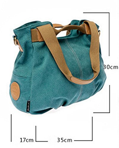 Panegy Damen Frauen Casual Tasche Mode Canvas Schultertasche Fashion Large Kapazität Handtasche Für Freizeit Outdoor und Sport - Himmelblau Himmelblau