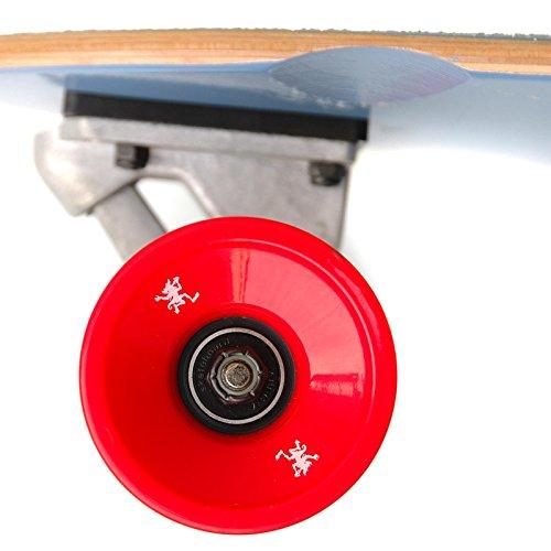 Apollo Longboard Moorea Tiki, Komplettboard, 107cm (42inch) x 22,8 cm (9inch) Freeride Skaten Cruiser Boards -