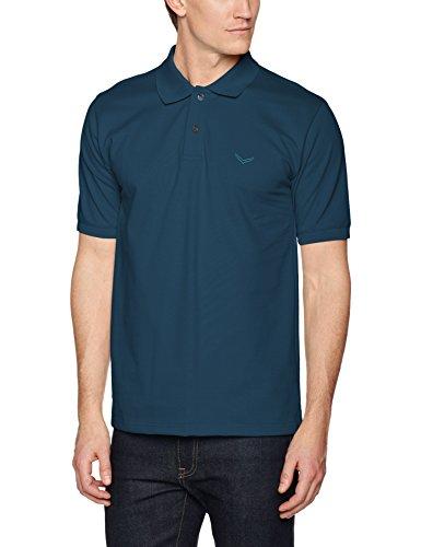 Trigema Herren Regular Fit Poloshirt Polo - Shirt Deluxe Piqué 627601, Einfarbig, Gr. X-Large, Blau (Saphir 152) (Golf Herren Polo Pique)