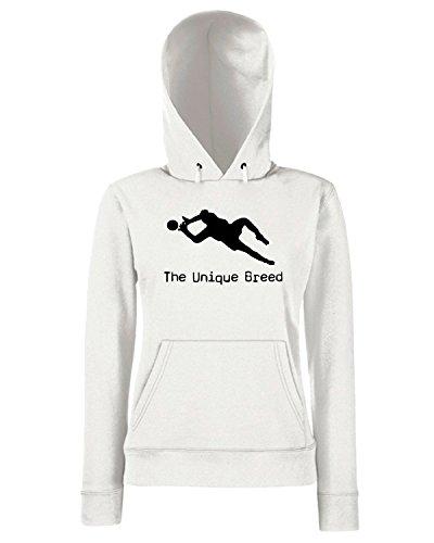 T-Shirtshock - Sweats a capuche Femme OLDENG00283 unique breed keeper Blanc