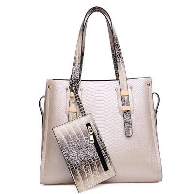 Mefly Europäischen Luxus Handtaschen All-Match Taschenmode Bild white