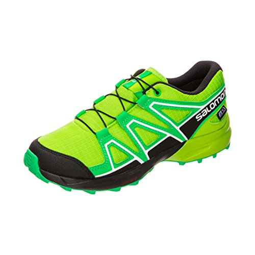Salomon Unisex-Kinder Speedcross CSWP J Traillaufschuhe, Grün (Lime Classic Green/Black 000), 35 EU