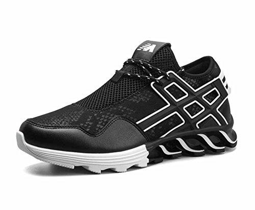 GLSHI Hommes Chaussures De Course Respirant Extérieur Léger Chaussures De Voyage en Cuir Haut Haut Basketball Baskets Formateurs Gym Chaussures