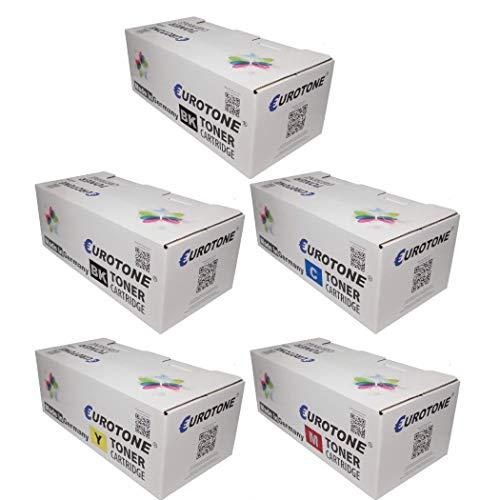 5X Eurotone Toner für Ricoh CL4000hdn SP C420 C410 C411dn CL4000 CL4000dn C410dn C420dn ersetzt TYPE145 TYPE245 Set -