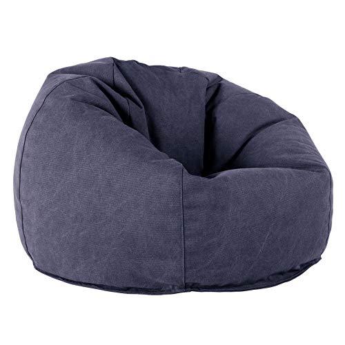 Lounge Pug®, Puff Redondo, Vaquero Desgastado - Azul Marino