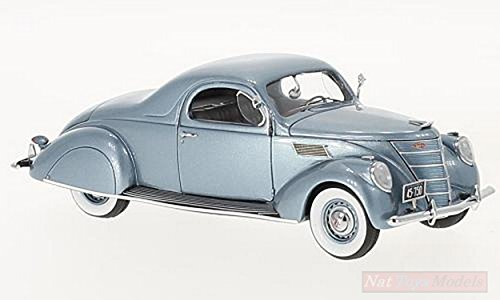 NEO Scale Models NEO45752 Lincoln Zephyr Coupe' 1937 Light Blue METALLIC 1:43