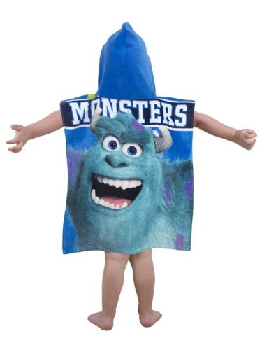 Image of Character World Disney Monsters Inc University Hooded Poncho, Multi-Color