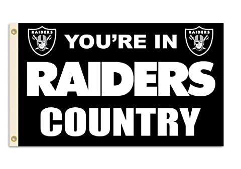 Oakland Raiders 3 feetx5 feet Country Design Flag