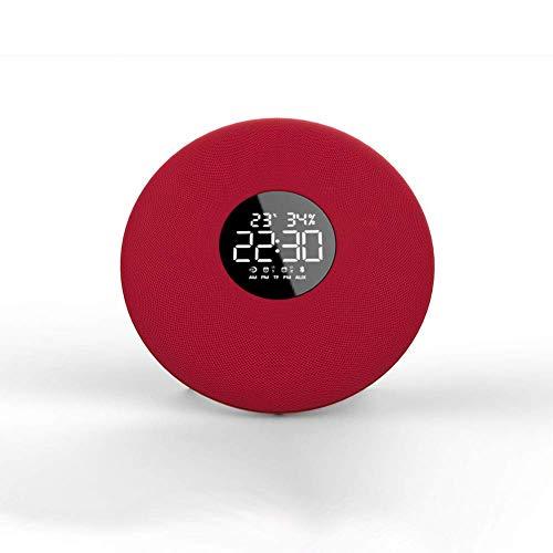 1-1 Wecker Fernbedienung Bluetooth-Lautsprecher Mini tragbare Computer-Lautsprecher Bild Zimmer Mode Lautsprecher Tuch schwarz und rot,Red
