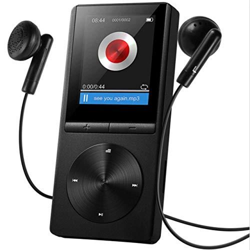 OMORC Lettore MP3 con Fascia Sportiva MP3 Player Sportivo Portatile per Running 8GB Radio FM Registrazione A-B Ripetizione 11 Luminosità Materiale Lega di Alluminio. Nero 080AB