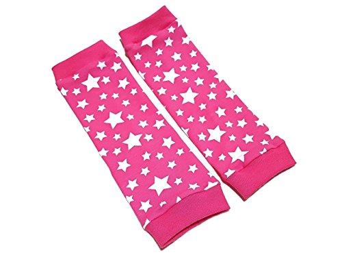 Stulpen 'Sterne Pink' Beinstulpen für Babys und Kinder *Handarbeit* (4 Größen verfügbar) Kinderstulpen und Babystulpen für Mädchen